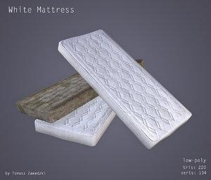 3d model clean dirty mattresses