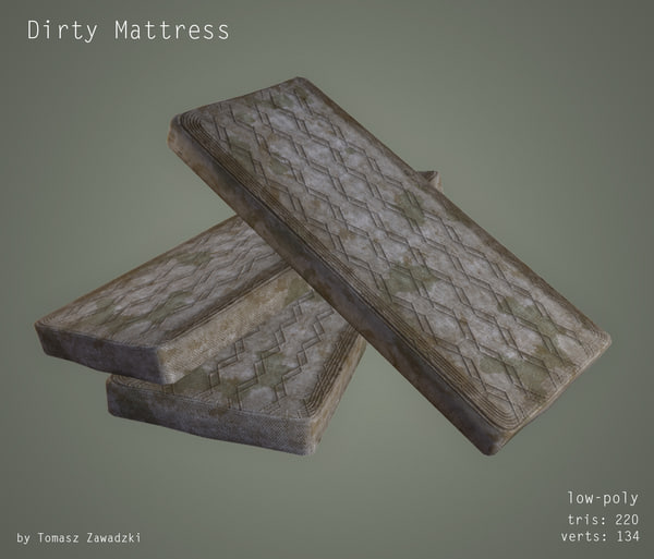 3d dirty mattress