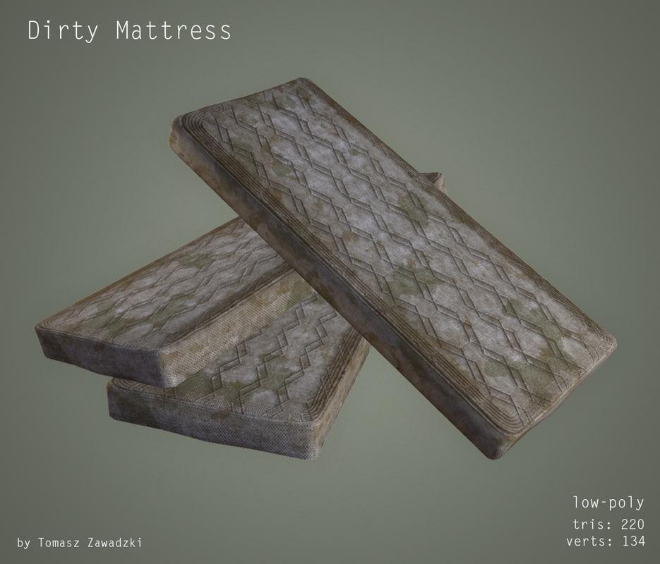 3d dirty mattress