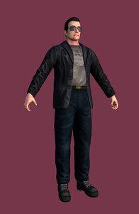3d maxguy character model