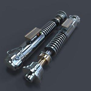3d luke skywalker lightsaber laser model