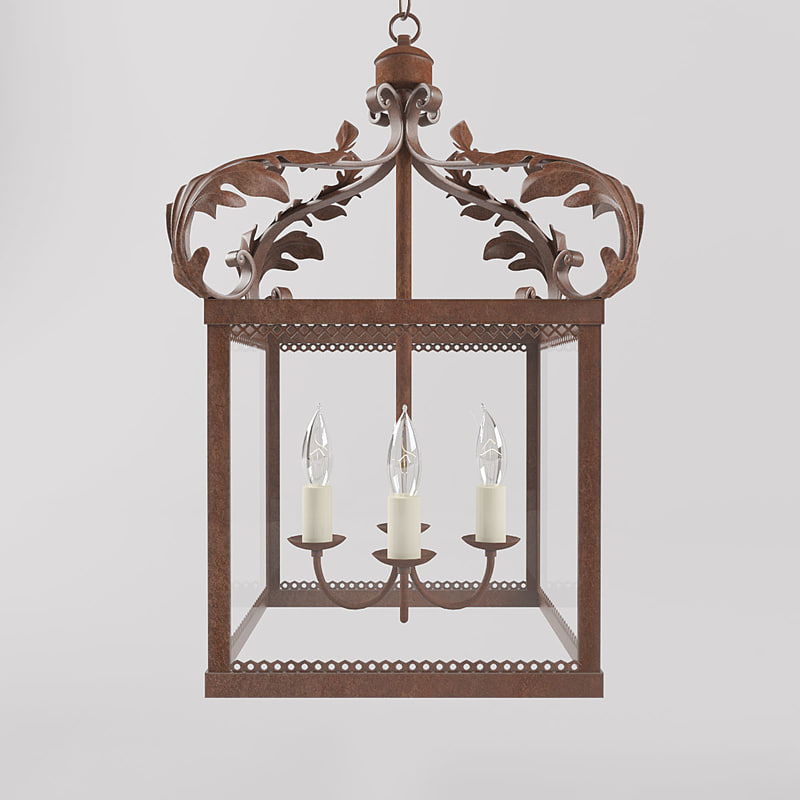 3d model antique lamp