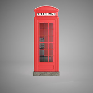 3d model telephone booth
