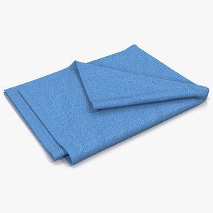 3dsmax towel 4 blue