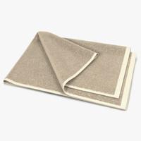 Towel 4 Beige with Fur