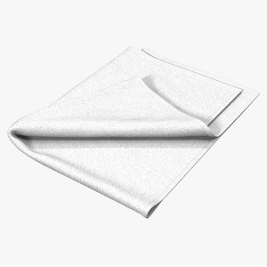3ds max towel 4 white