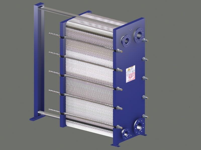 3d plate type heat exchanger