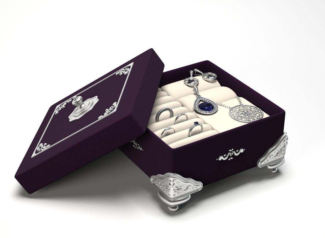decorative jewelry box fbx