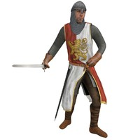 3d model rigged medieval knight