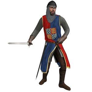 rigged medieval knight max