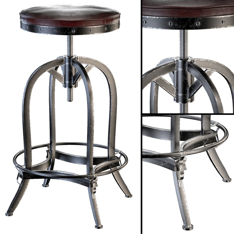 dempsey swivel iron bar stool 3d max
