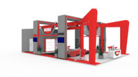 exhibition stand 3d obj