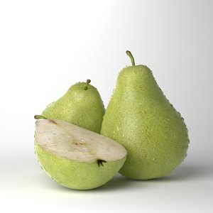 3d model of photorealistic pears realistic