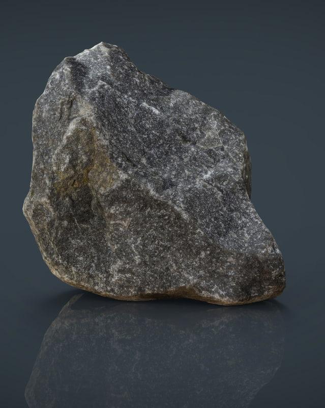 real stone 11 3d obj