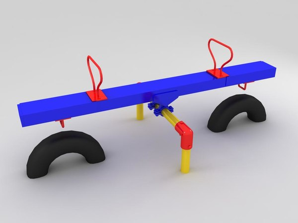 3ds seesaw kid
