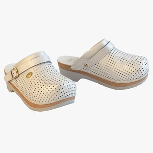 scholl comfort clogs white max