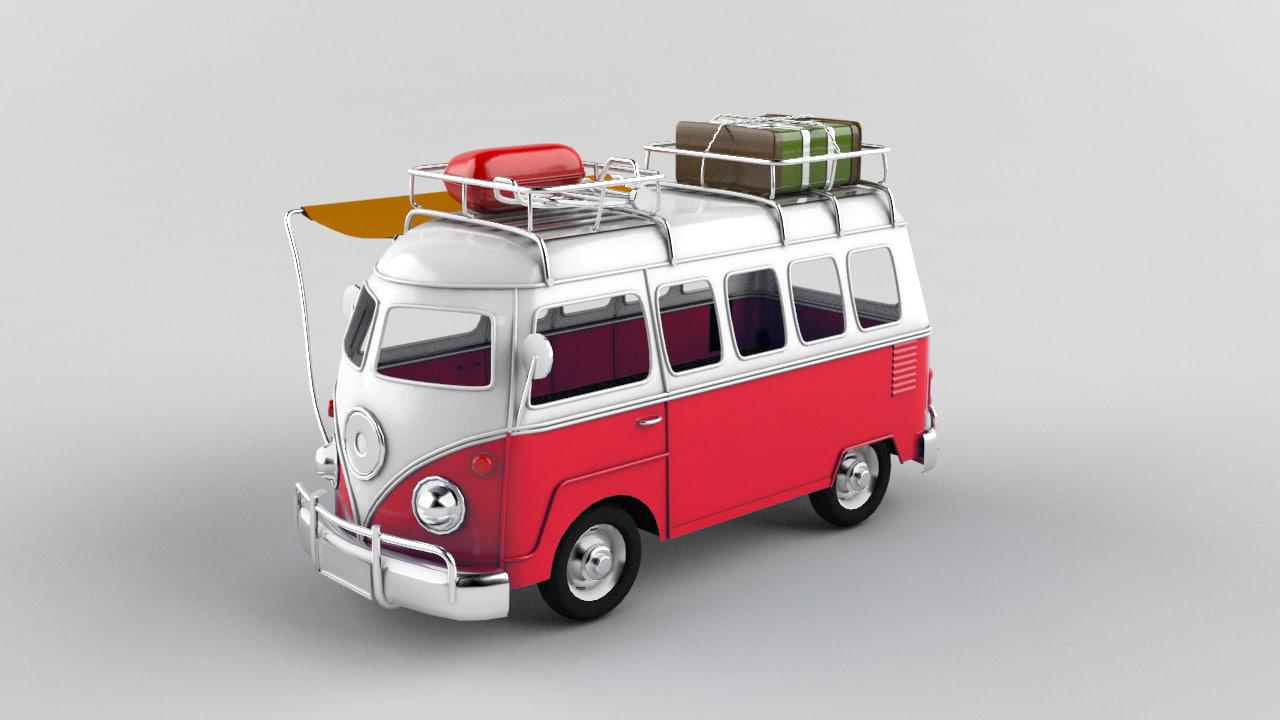 3d max metallic toy car volkswagen