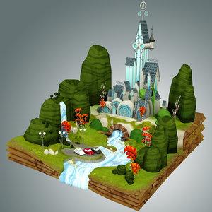 fantasy castle c4d