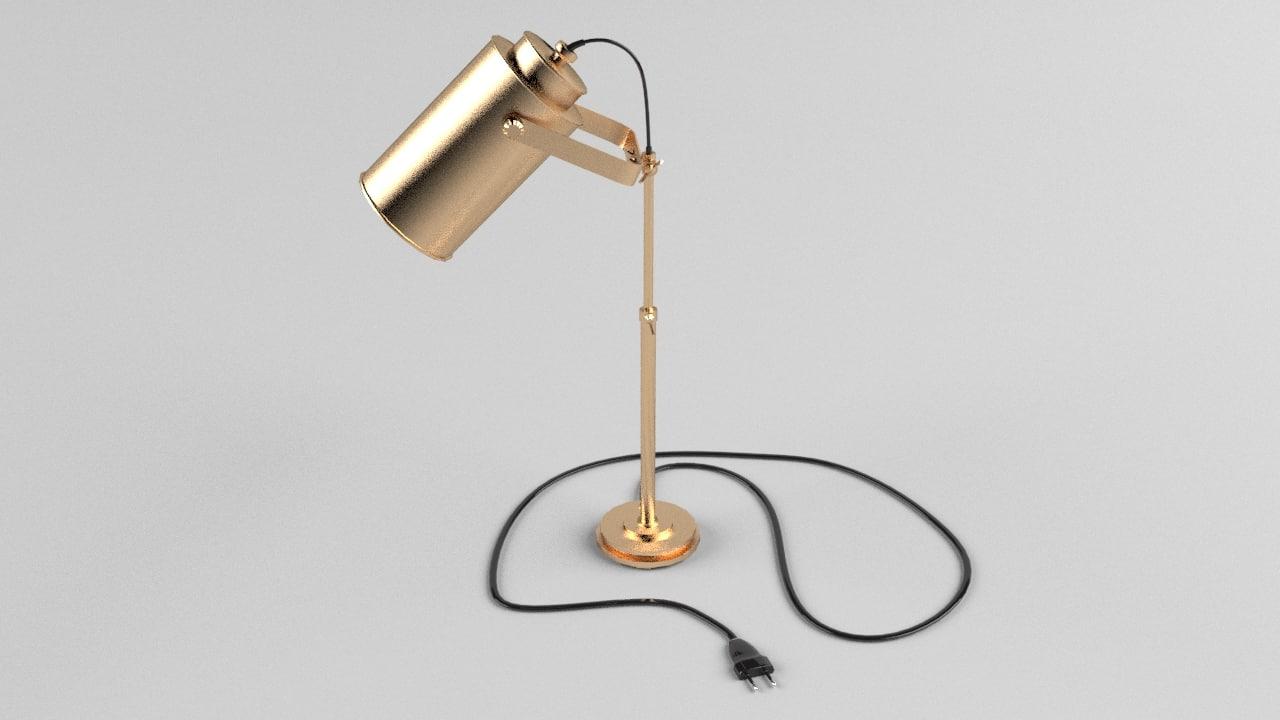 obj desktop lamp