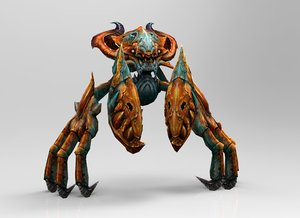 3d obj crab monster