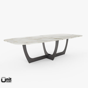 3d model romeo table furniture baxter