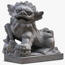 Dog Statue 3D models