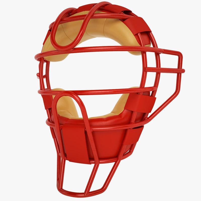 catchers face mask 3d model