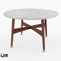 3d handcrafted mid-century coffee table model