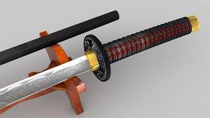 katana sword c4d
