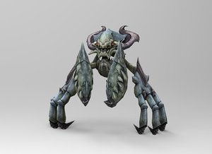 3d crab monster model