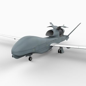 3ds max northrop rq-4 global hawk