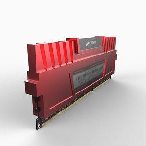 computing ddr3 ram 3d model