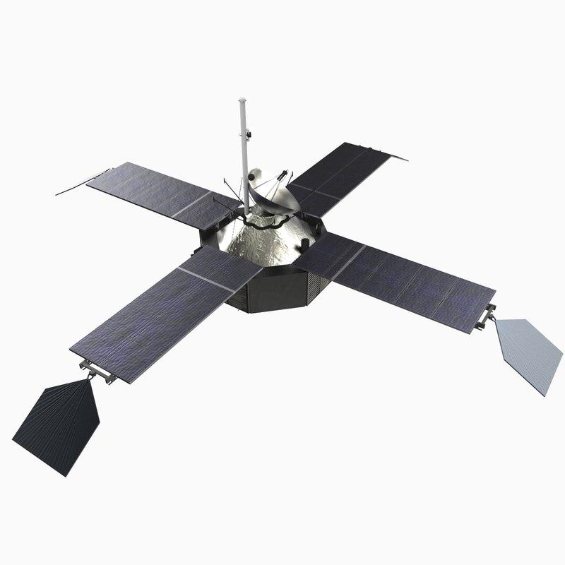3d model mariner 4 spacecraft