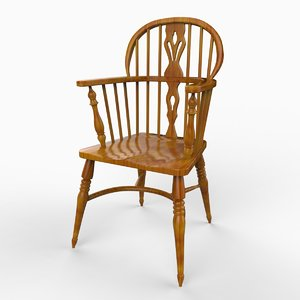 english windsor chair yeoman 3d model