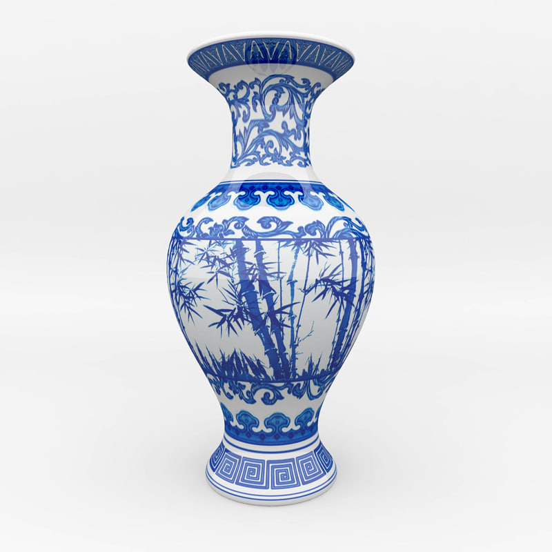 maya chinese blue white porcelain