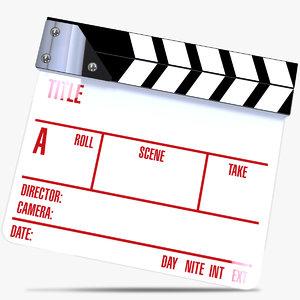 clapperboard film max