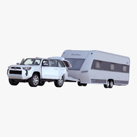 Toyota 4Runner and Hobby Caravan Prestige Rigged