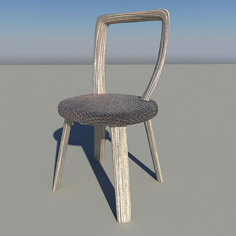 fantastic chair 3d obj
