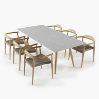 max set dansk table chair