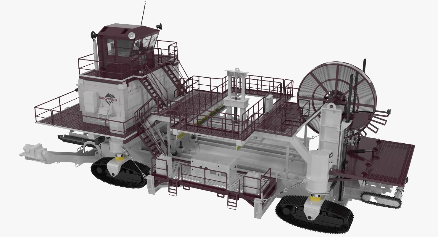 wall mining profile bucyrus 3d model