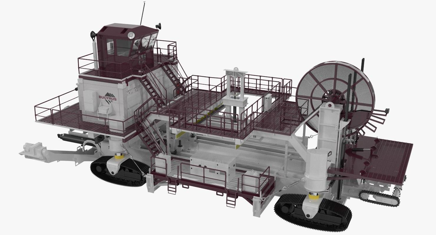 wall mining profile bucyrus 3d model