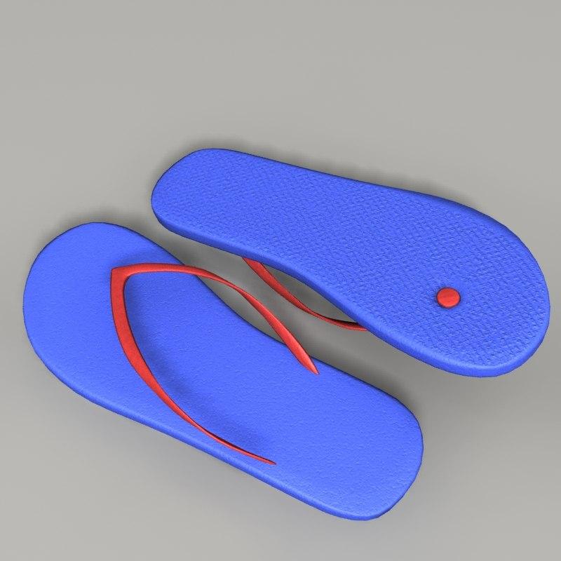 flip flop sandals 3d max
