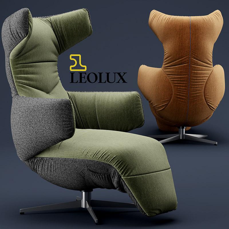 3d chair armchair leolux