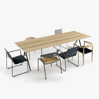set table dining chair 3d max