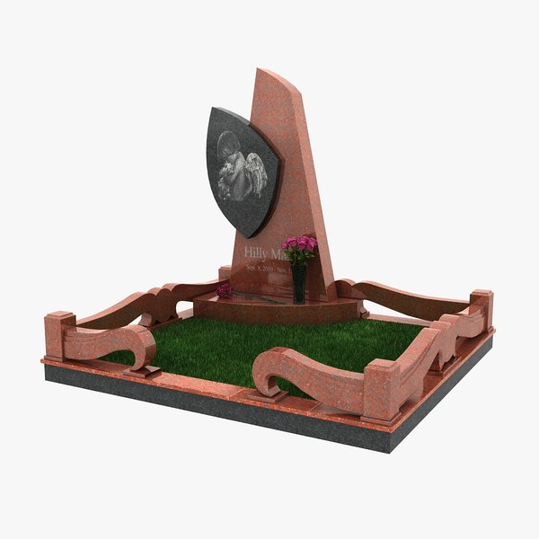 3d tomb headstone model