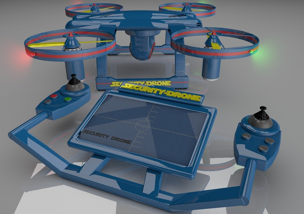 security drone r 3d model