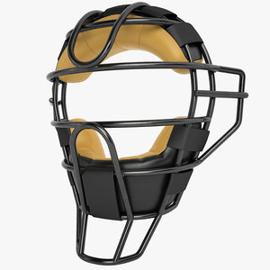 catchers face mask 3d 3ds