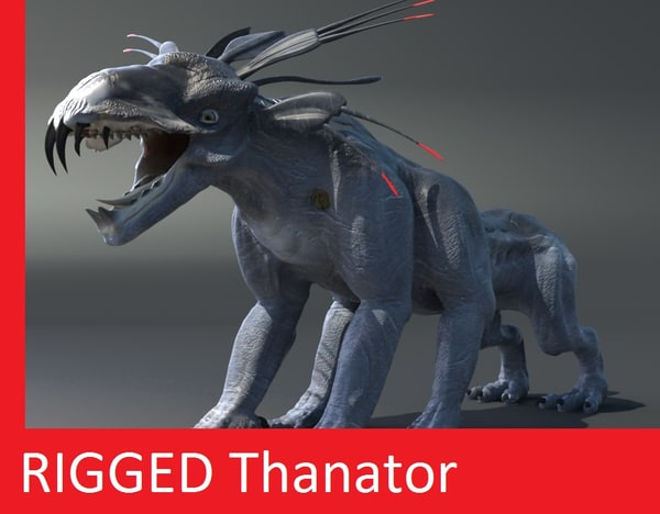 3d model rigged thanator