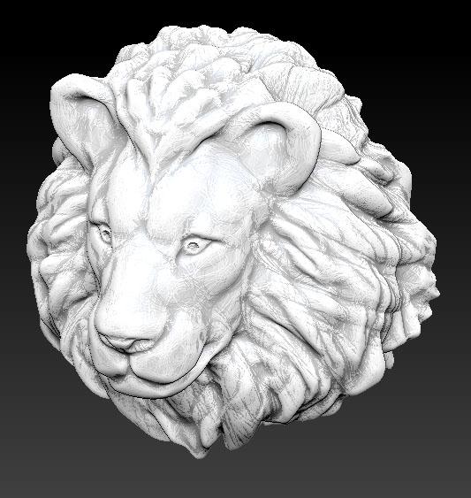 3d obj lion head