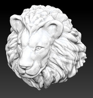 3d obj lion head